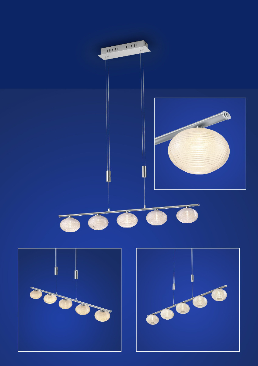 Hängeleuchte, Pendelleuchten & Hängelampen von B-Leuchten Classic LED-Pendelleuchte 20407/5-92