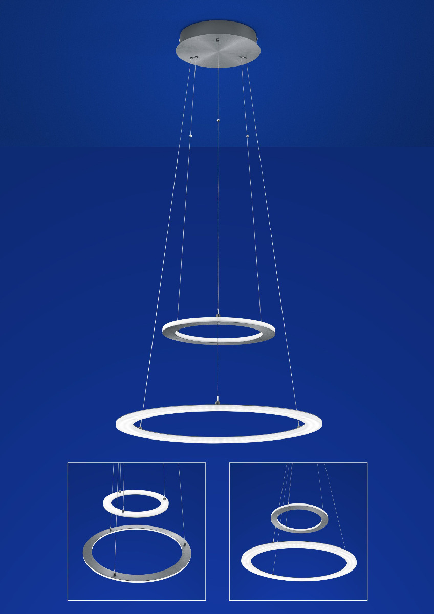 Hängeleuchte, Pendelleuchten & Hängelampen von B-Leuchten Mica LED Pendelleuchte / CCT- Dimmtechnik- inklusive Fernbedienung 20411/2-39