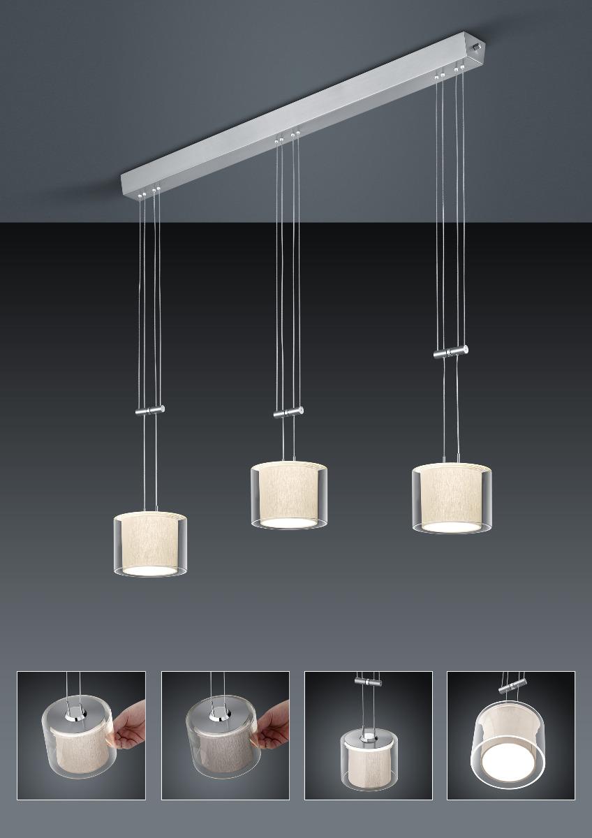 LED-Hängeleuchten von BANKAMP Leuchtenmanufaktur CECIL LED Pendelleuchte 2159/3-55