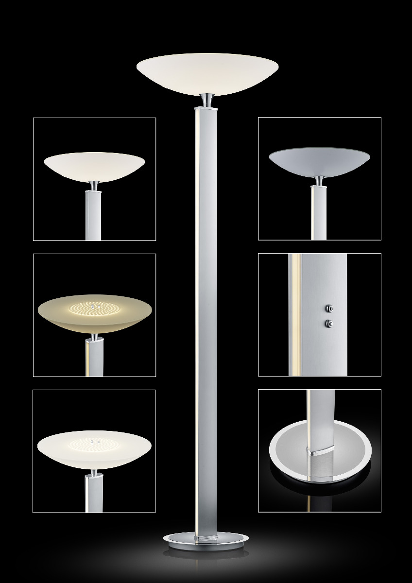 LED-Stehleuchten & LED-Stehlampen von BANKAMP Leuchtenmanufaktur Pure F LED Stehleuchte 6084/1-92