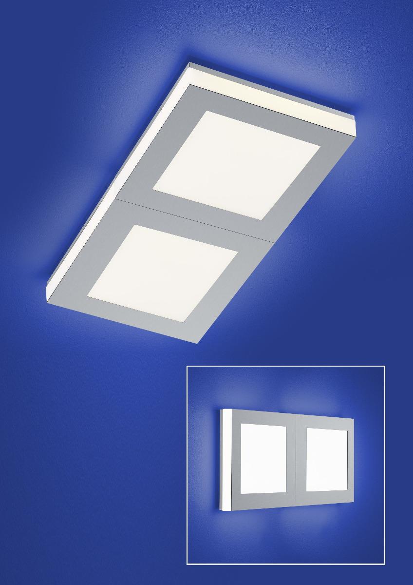 Deckenleuchten & Deckenlampen von B-Leuchten Quadro LED Deckenleuchte 70407/2-65