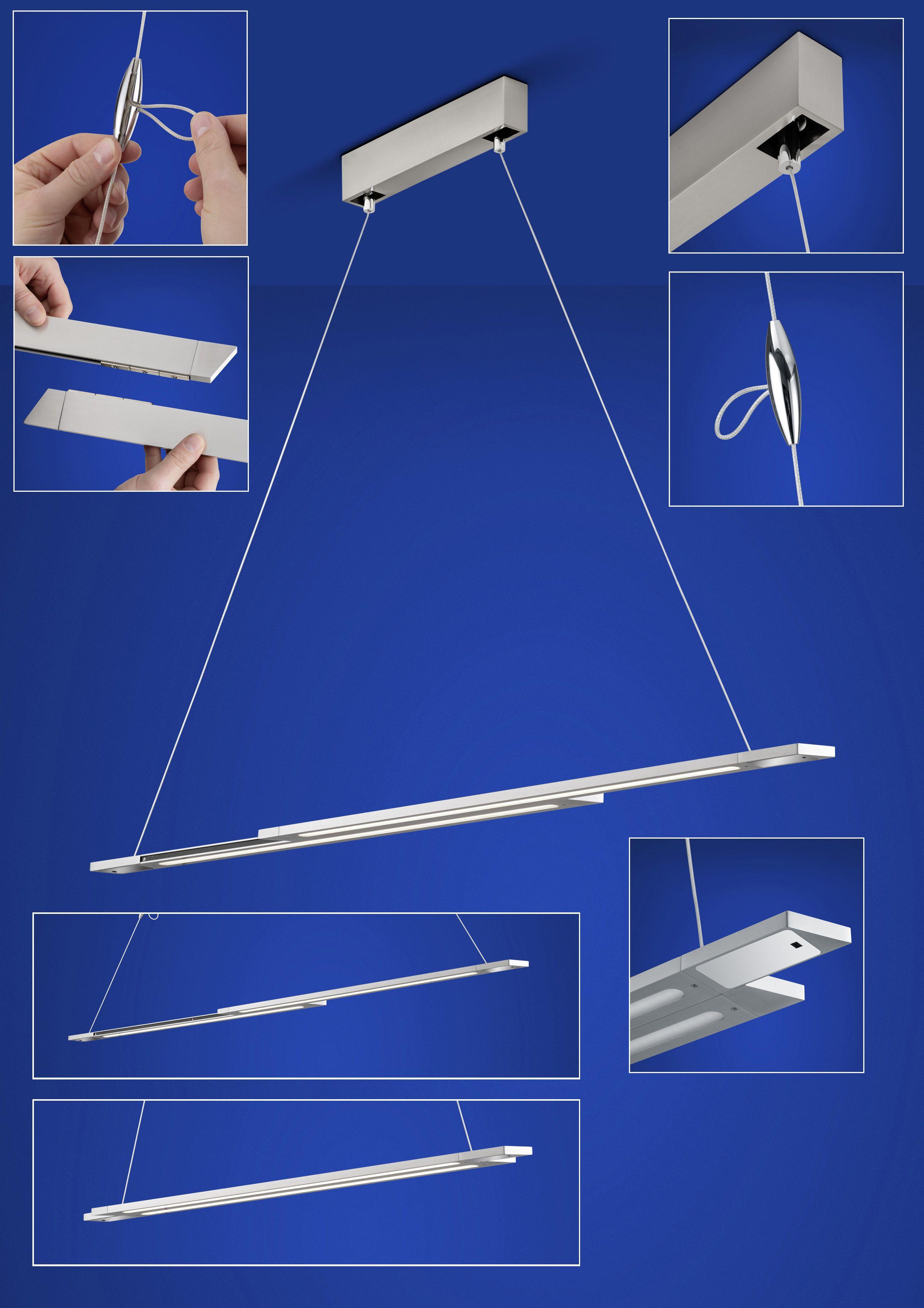 LED-Hängeleuchten & LED-Hängelampen von B-Leuchten BLU STICKS LED Pendelleuchte 20401/1-92