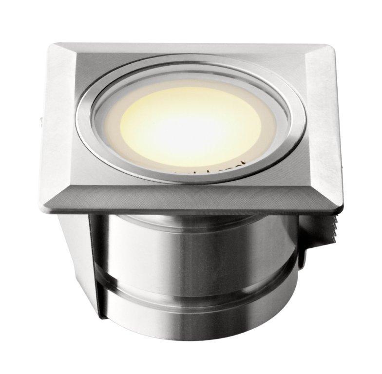 Einbauleuchten von dot-spot brilliance mini LED-Einbauleuchte 1 W quadratisch, diffus, 5 m Gummikabel mit Stecker 2074.21.42.02