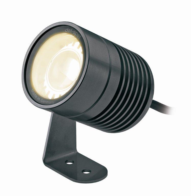 Dot-spot Clarios, 10 W, Aluminium Eloxiert, 5 M Kabel, 15