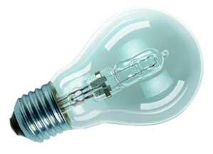 Standard E27 von UNI-Elektro OSRAM Halogenlampe ECO Classic A 230V 46W E27 klar 64543 A ECO PRO