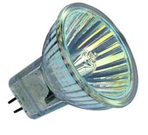Halogenlampen GU4 von UNI-Elektro Paulmann Halogenlampe Ø35 GU4 12V 5W38 Grad mit Scheibe 838.09