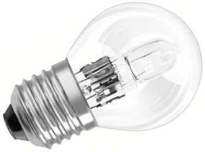 Standard E27 von UNI-Elektro OSRAM Halogenlampe ECO Classic P 230V 30W E27 klar, Tropfen 64542 P ECO E27