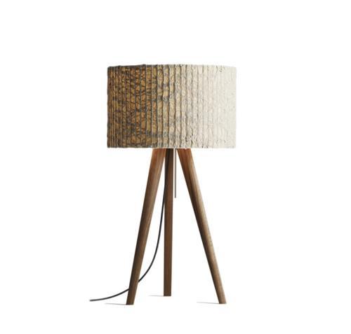 STEN Tischleuchte Nußbaum - Ausstellungsstück - von DOMUS