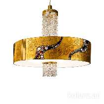 Kristall-Leuchten von KOLARZ Leuchten Hängeleuchte EMOZIONE Ø60 - Lagerräumung 0345.36.3.Ki.Au.KpT