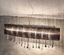 Serie PARALUME von KOLARZ Leuchten von KOLARZ Leuchten Paralume Luster 0240.87.5.F.Bk.ETBk