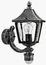 Artikel von Albert Leuchten von Albert Leuchten Wandleuchte, mit Bewegungsmelder 120°, Alu, schwarz-silber 601822