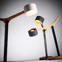 DOMUS Artikel von DOMUS FRITS LED Tischleuchte/ Eiche geölt 7741.74