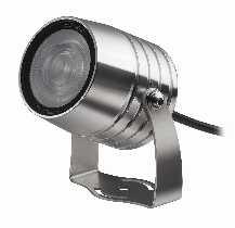 LED von dot-spot clarios eco 6 Watt LED Garten- und Objektstrahler mit Honeycomb, Lichtfarbe kaltweiß, Abstrahlwinkel 15°, Mantelleitung 5 m 20207.850.15.33
