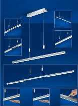 B-Leuchten Leuchten von B-Leuchten LED-Hängeleuchte Expander 20334/1-92
