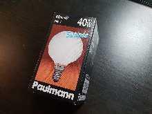 Standard E14 von UNI-Elektro Paulmann Mini Globe satiniert E14 40W, Durchmesser 60 mm 125.40