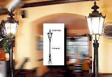 Madrid Standleuchte Klarglas von ANTIQUA Guliker