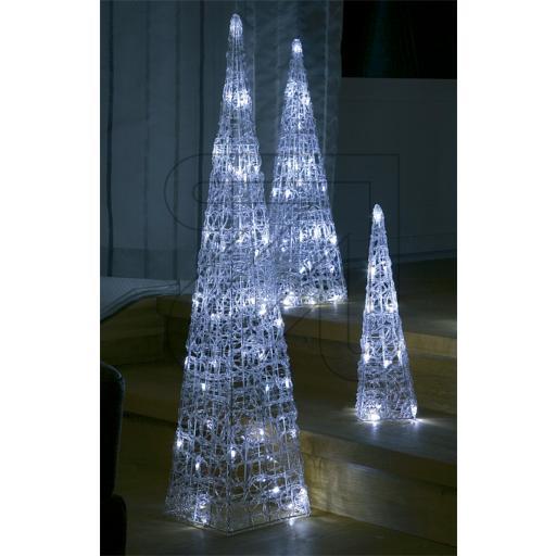 60er led beleuchtete pyramide lichterkegel lichtpyramide wei acryl trafo 90 cm smash. Black Bedroom Furniture Sets. Home Design Ideas