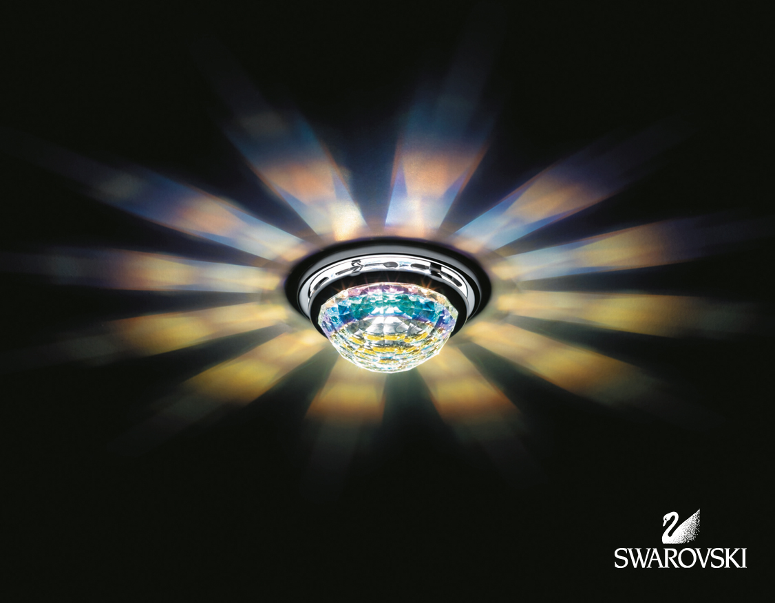 Swarovski leuchten vega crystal abz decken einbauleuchte