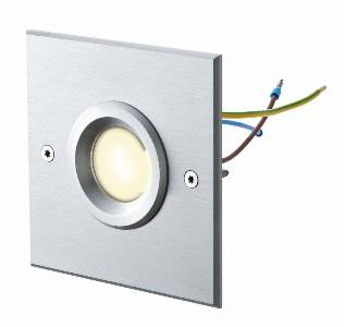 LED-Artikel von dot-spot object-light 230 V, quadratisch, Alu matt, klare Linse,  warmweiß 10101.830.01.01