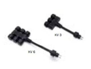 LED-Leuchten von dot-spot Kabelverteiler 6-fach, 12 V AC Stecksystem, Artikelnummer alt: 20001.94.02.92 94402