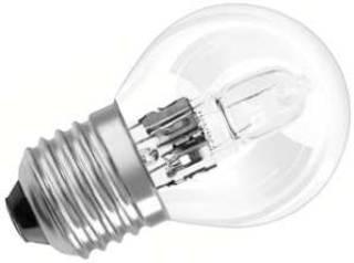 Glühlampen mit Fassung E27 von UNI-Elektro OSRAM Halogenlampe ECO Classic P 230V 20W E27 klar, Tropfen 64541 P ECO E27
