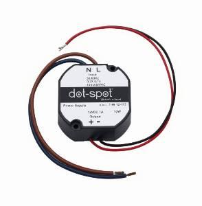 LED-Leuchten von dot-spot Netzteil 12 V DC 12 W, Montage in UP-Dose, Konstantspannung, Artikelnummer alt: 1656.99.99.92 90112