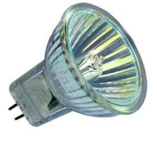Halogenlampen Fassung GU4 von UNI-Elektro Paulmann Halogenlampe Ø35 GU4 12V 5W38 Grad mit Scheibe 838.09