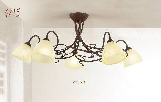 Sonderangebote - Sale bei Deckenleuchten & Deckenlampen von Via Dese LAM Leuchten Deckenleuchte 4215 / 5 Flammig 4215/5PL/PH/A1