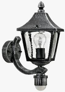 Albert Leuchten Artikel von Albert Leuchten Wandleuchte, mit Bewegungsmelder 120°, Alu, schwarz-silber 601822