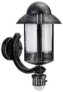 Albert Leuchten Artikel von Albert Leuchten Wandleuchte, mit Bewegungsmelder, Alu, schwarz-silber 601842