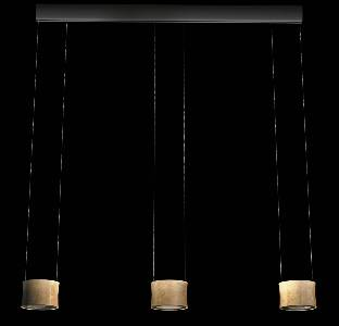 LED-Hängeleuchten & LED-Hängelampen von BANKAMP Leuchtenmanufaktur LED-Pendelleuchte Luce Elevata Impulse LED - Baldachin dunkelbraun L2024.3-51