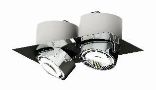 Deckenleuchten & Deckenlampen von Top Light Leuchten Deckeneinbauleuchte Puk Inside Twin 7-73007-H