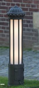 Bodenleuchten, Pollerleuchten, Kandelaber & Bodenlampen für außen von Robers Leuchten Pollerleuchte mit einer Schukosteckdose AL6856-478-16