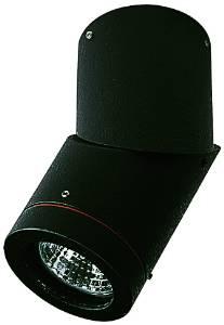 Deckenleuchten & Deckenlampen für außen von Albert Leuchten Dreh-/ Schwenkstrahler, Alu, schwarz 662138