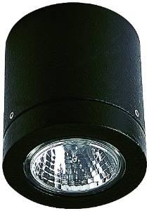 Deckenleuchten & Deckenlampen für außen von Albert Leuchten Deckeneinbaustrahler, Alu, schwarz 662140
