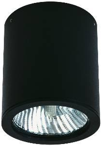 Deckenleuchten & Deckenlampen für außen von Albert Leuchten LED-Deckenaufbaustrahler, Alu, schwarz 662380