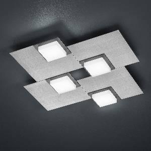 LED-Deckenleuchten & LED-Deckenlampen von BANKAMP Leuchtenmanufaktur LED-Deckenleuchte Quadro 7705/4-69