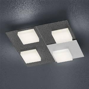 LED-Deckenleuchten & LED-Deckenlampen von BANKAMP Leuchtenmanufaktur LED-Deckenleuchte Cube 7709/4-39