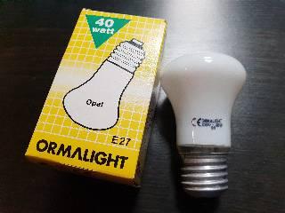Glühlampen mit Fassung E27 von UNI-Elektro Ormalight Krypton E27 40W opal ORMAKRE27