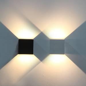 Wandleuchten & Wandlampen für außen von LTLUX24 SARA Wandleuchte LED Lichtaustritt verstellbar 180 Grad KD-LWL-A100IP65-12W-W-2700