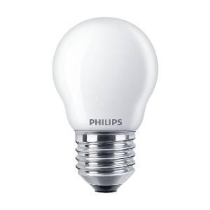 Glühlampen mit Fassung E27 von UNI-Elektro Philips Classic LEDlustre E27 P45 4.3W 827 Matt CLA LEDCandle ND 4.3-40W P45 E27 FR