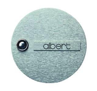 Klingelschilder von Albert Leuchten Klingelplatte, 1-fach, Edelstahl 690945