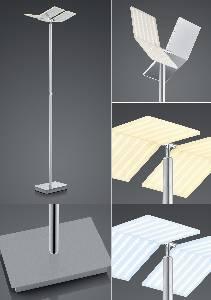 LED-Stehleuchten & LED-Stehlampen von B-Leuchten LED-Stehleuchte Domi 60428/1-92