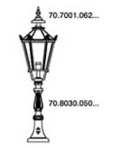 ANTIQUA Guliker - Madrid Sockelleuchte Klarglas - 70.1412.110.30