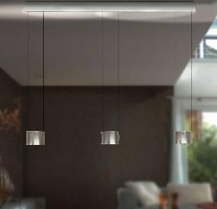 LED-Pendelleuchte Luce Elevata Impulse LED - Badachin weiß von BANKAMP Leuchtenmanufaktur