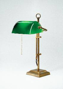 Berliner Messinglampen Artikel von Berliner Messinglampen Bankers Lamp Tischleuchte Glas grün W2-99gr B