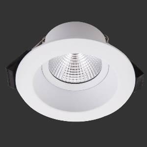 Einbauleuchten & Einbaulampen für Garten und Außenbereich von dot-spot sirka 68 LED Deckeneinbauleuchte, für 68 mm Einbauöffnung, rund, 90 mm, starr, reduzierte Blendung 10232.927