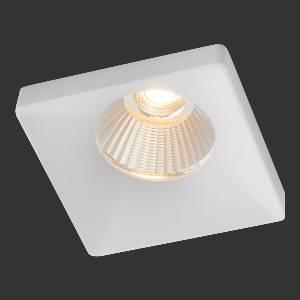 Einbauleuchten & Einbaulampen für Garten und Außenbereich von dot-spot tuboquar L LED Deckeneinbauleuchte, mit 13 mm hoher quadratischer Designblende, 70x70 mm 10312.927