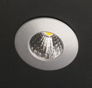 Einbauleuchten & Einbaulampen für Garten und Außenbereich von dot-spot mikra 1W LED Einbauleuchte, rund, 35 mm, mit Haltefedern 10401.830