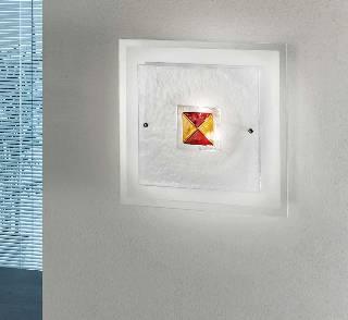 Sonderangebote - Sale bei Wandlampen & Wandleuchten von KOLARZ Leuchten Domino Wandleuchte - Ausstellungsstück A70.45 rot